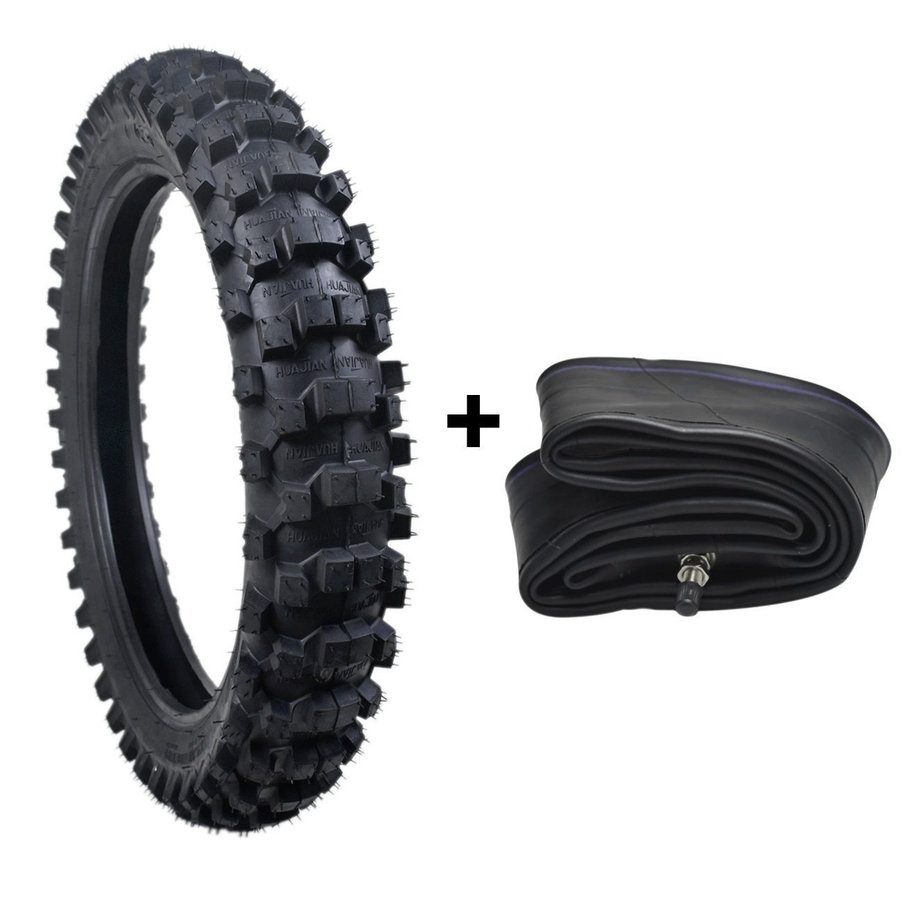 ZXTDR Tire and Inner Tube Set 90/100-16 Off Road Dirt Bike Motorcycle Replacement parts