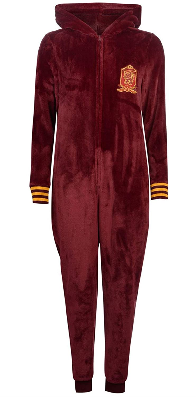TALLA UK 12 (Medium) EU 40. Harry Potter Gryffindor - Pijama de una Pieza - para Mujer