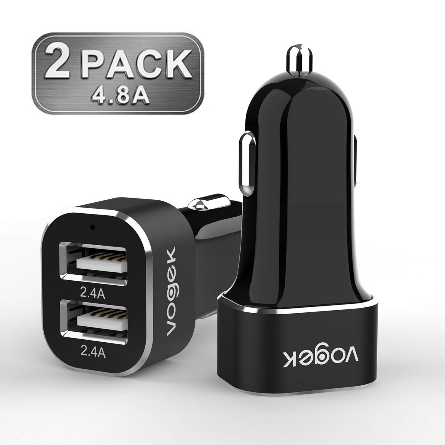 Amazon.com: Mini Car Charger, Vogek 2-Pack 4.8A 24W Dual USB ...