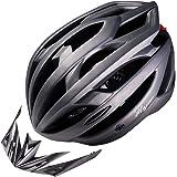 iMajor 自転車 ヘルメット (ロードバイク クロスバイク サイクリング) CE規格 超軽量 サイズ調整 LED 脱着可能シールド付