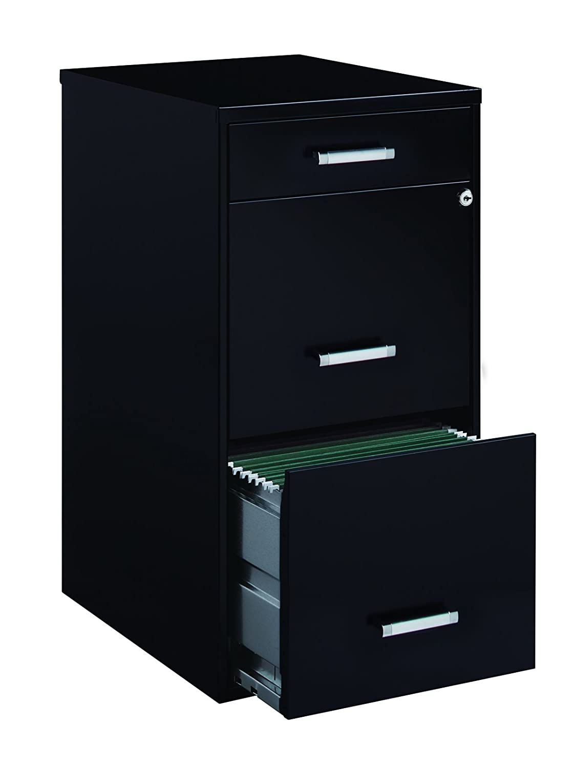 Amazon.com: Space Solutions Metal File Cabinet With Pencil Drawer And Lock, 3  Drawers, 18 Great Pictures