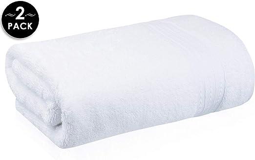 2 white hotel bath sheets towels large 30x60 supreme 100/% cotton soft