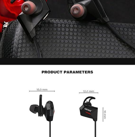 Genai 2017 high-end Boutique HIFI Shocked graves movimiento Bluetooth inalámbrico Bluetooth Auricular: Amazon.es: Deportes y aire libre