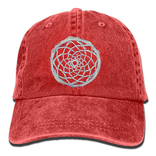 Qbeir Circle Dream Catcher Adjustable Unisex Customized Adult Cowboy Cotton Denim Hat Cap