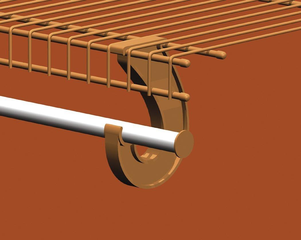 ClosetMaid 6-Foot Hanging Bar for SuperSlide Shelves, White #2058