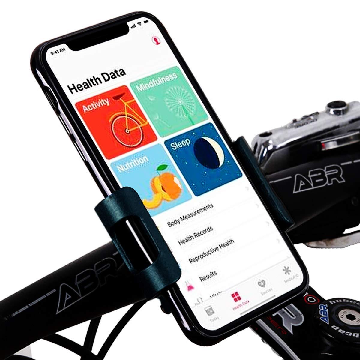 Vohoney Handyhalterung Fahrrad Aluminium Handyhalter Motorrad Handy Halterung Anti-Shake Fahrrad Handy Halterung Universal f/ür 4,0-6,2 Zoll Smartphone mit 360/° Drehbar Handyhalterung Fahrrad Schwarz