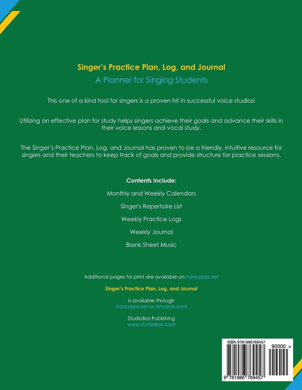 Singers Practice Plan Log And Journal Green