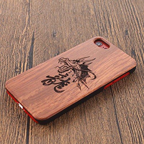 Funda Madera para iPhone 6s, Vandot Natural Ultra Slim Talla Madera Bambú Cubierta Trasera Duro con Hybrid PC Shell Cubrir Protectora Absorción Impactos Anti-Arañazos para iPhone 6/6s 4.7 Pulgadas, Pa Mu+PC 15