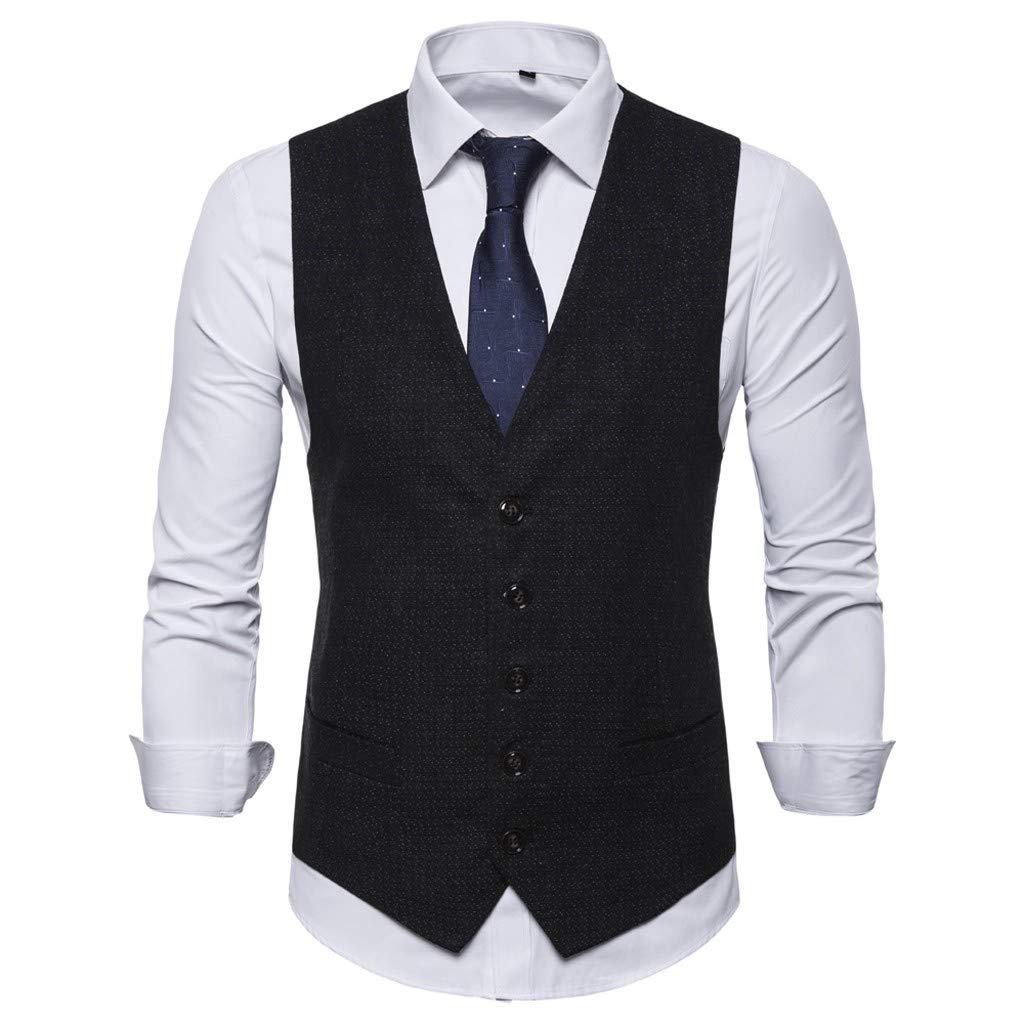Herren Anzug Sakko Weste Hose Business Hochzeit Party Dunkel Blau Slim Fit Gr.56
