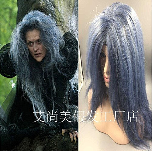 Hot Witch mixed blue Into the Woods Halloween Halloween cartoon witch wig spot ()