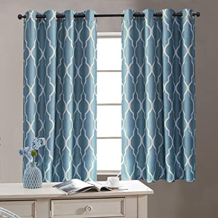 Amazoncom Blue Curtains 54 Inch Long For Bedroom Home Linen
