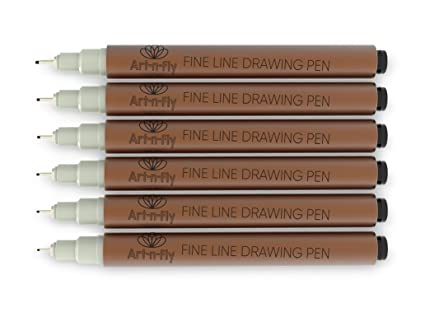 amazon com fine tip inking sepia pens for drawing archival ink pen