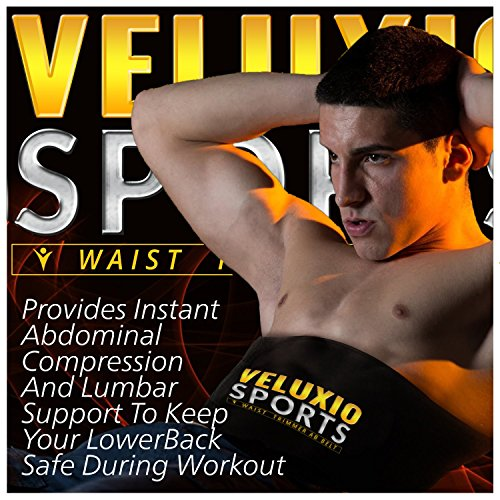 203140014e Waist Trimmer Ab Belt (Elite Edition) - Adjustable Weight Loss Sauna Belt  For Men   Women With ...