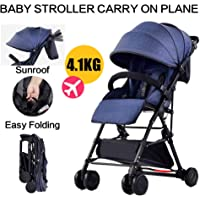 Baby City Tour Stroller Pram Compact Light Weight Folding Toddler Strollers Carrier Travel Umbrella Jogger (Blue)