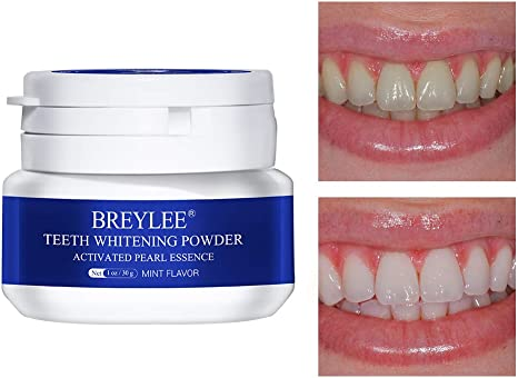 Amazon Com Teeth Whitening Powder Breylee Teeth Brightening