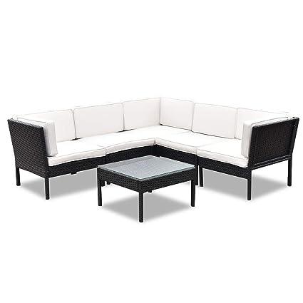 Amazon.com: TANGKULA 6 Piece Patio Furniture Set Outdoor Lawn Garden ...