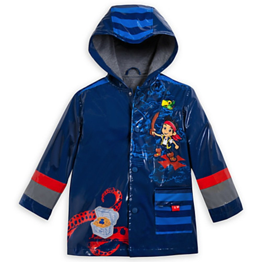Disney Store Deluxe Jake and the Never Land Pirates Rain Jacket Small 5 - 6 or 5T