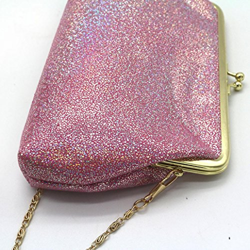 Small Wallet Purse Sparkling Bag Hot Hasp Clutch Shining Pink Women Clearance qCFBff