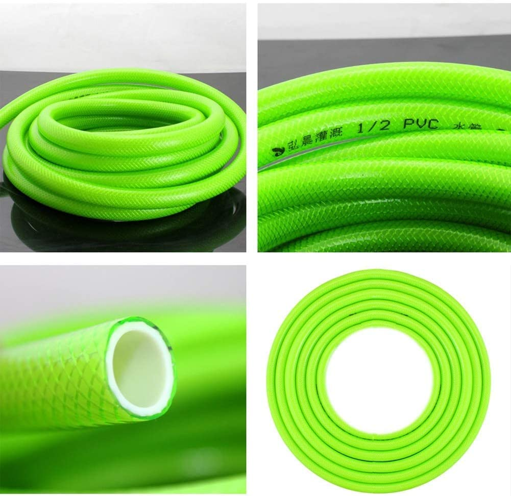 YANGSANJIN Flexible Water Hose, 13 Mm (1/2 Inch), Universal Garden Hose of Robust Cross-weave, 13 Bar Burst Pressure, UV Resistant (Color : 1/2 inch, Size : 15m/ 1/2 Inch