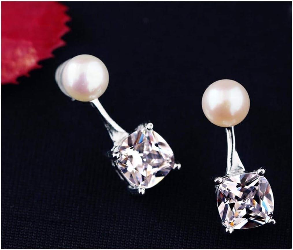 WSNM 925 Cuadrado del Color de Plata Pendiente de Gota de Las Mujeres joyería Declaración de la Boda de la Perla Pendientes de Piedras Preciosas