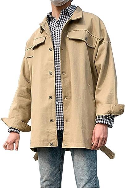 【在庫セール】 [ゴスファング] ビッグシルエット ジャケット コート フェイクポケット 大きいサイズ カジュアル 長袖 メンズ