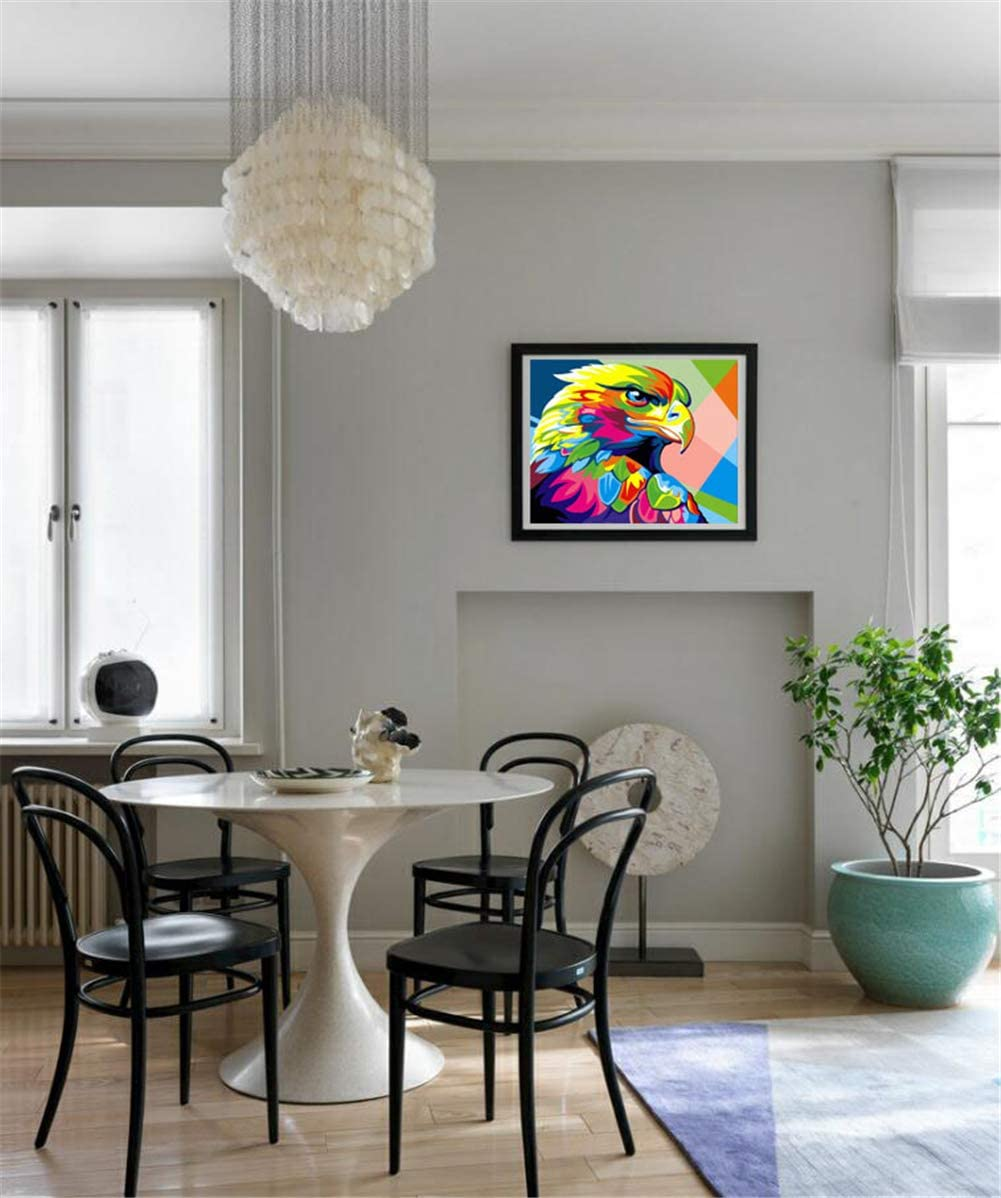 Komking Kit de pintura al /óleo con n/úmeros para manualidades para adultos principiantes hermosa pintura de animales sobre lienzo 40,6 x 50,8 cm