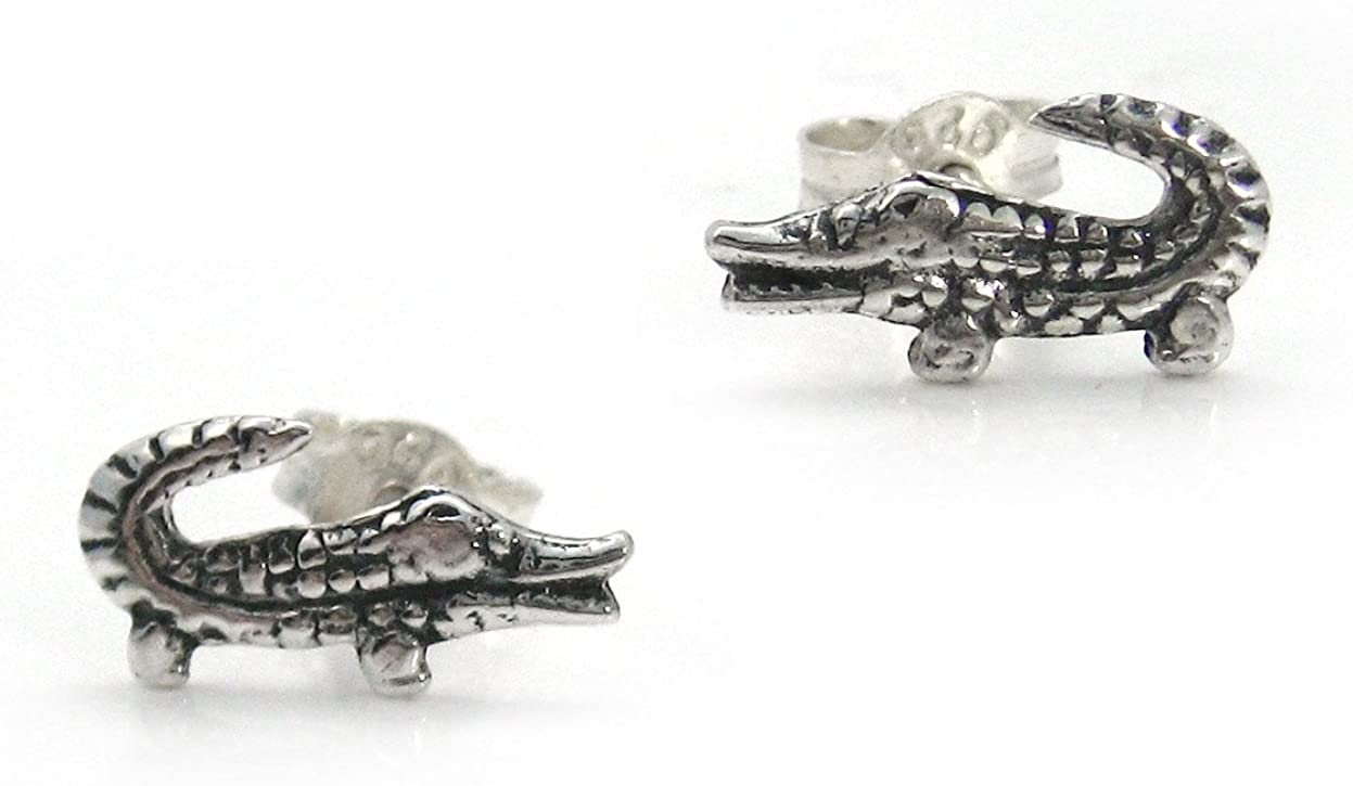 Sterling Silver Alligator Post Stud Earrings