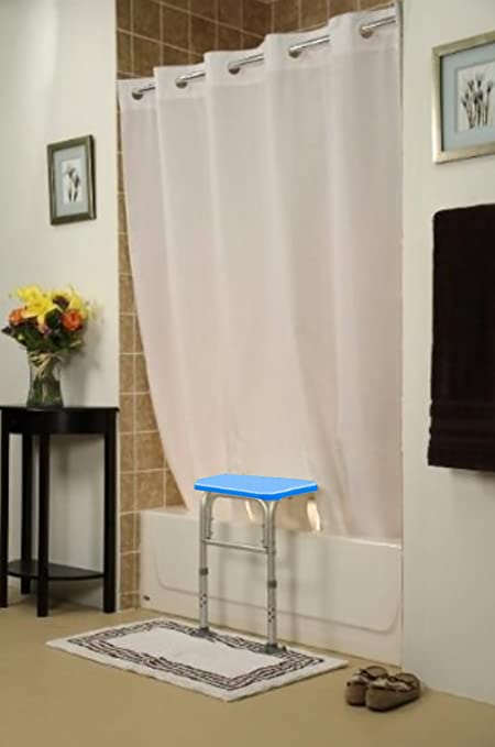 BenchMate Split Shower Curtain For Bath Transfer Benches