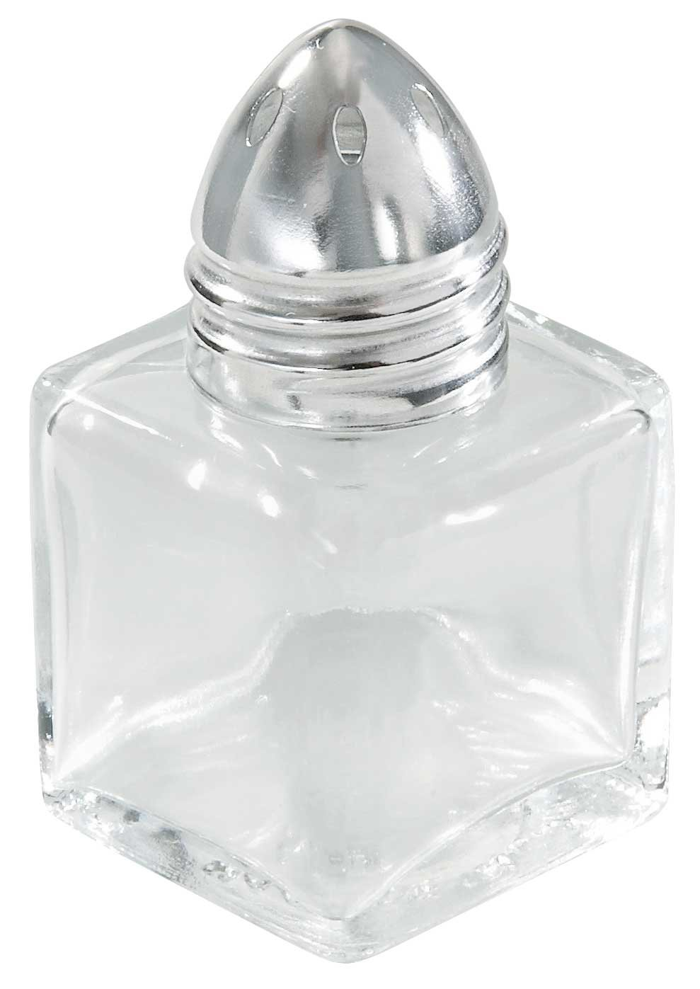 Winco 12-Piece Square Shaker with Chrome Plated Top, 1/2-Ounce