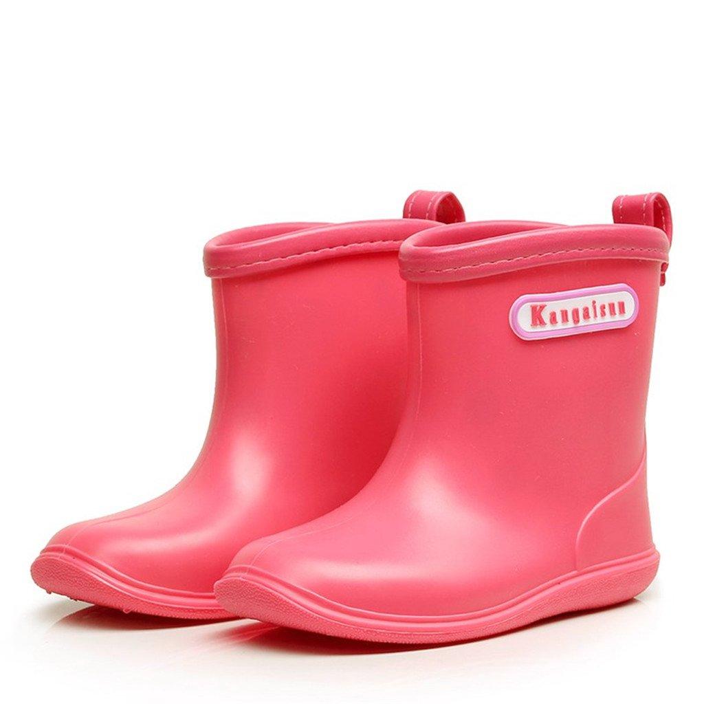 Rain Boots Kids Boys Girls Shoes Waterproof Anti-slip, Yellow Huizhou Weiyitian Trading CO. Ltd