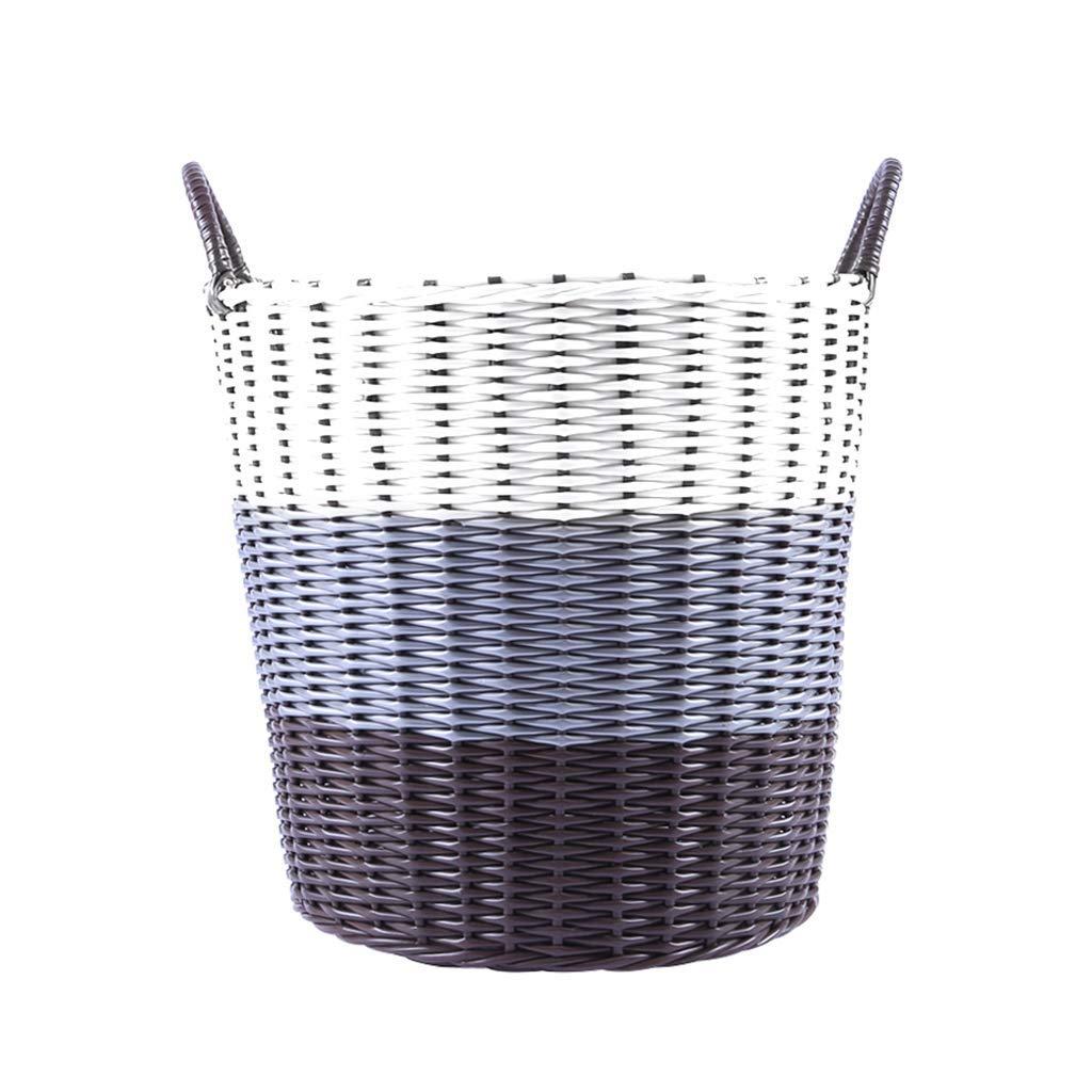 収納ボックス、編まれた収納バスケットプラスチック編まれたランドリー用バケツ、汚れた服収納バスケット(カラー:A、サイズ:S) B07TJYQYN7 Small A