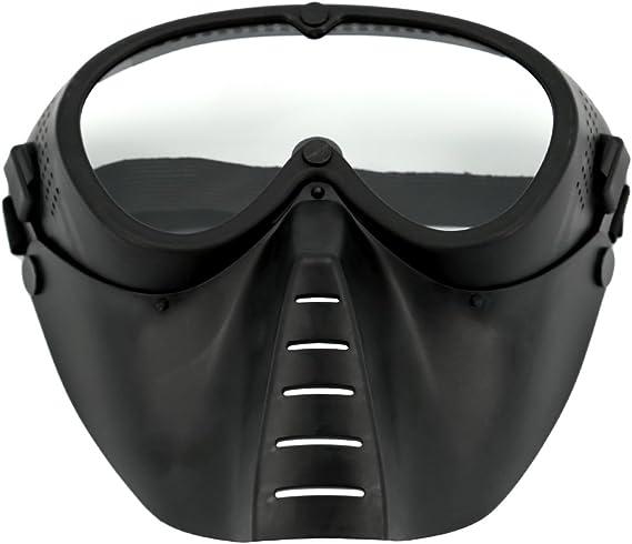 Leic M/áscara t/áctica Estilo Simple Dardos de Espuma Suave Protectora Espejo de Engranaje extendido Mascarilla para Entrenamiento Nerf CS Juego de Paintball Airsoft