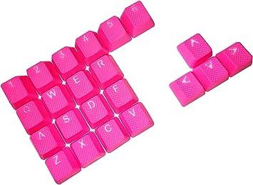 Juego de Teclas retroiluminadas de Goma para Juegos – 22 Teclas para teclados mecánicos Cherry MX OEM Compatible con Extractor de Llaves