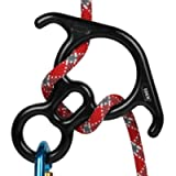 50KN Rescue Figure, 8 Descender Large Bent-Ear Belaying and Rappelling Gear Belay Device Climbing for Rock Climbing Peak…