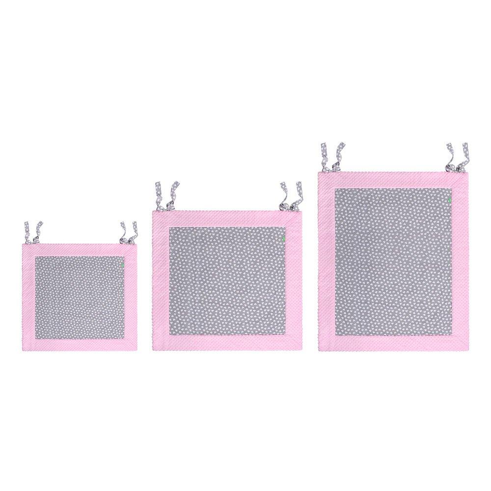 LULANDO Tapis D/éveil 150x200 cm Taille: 120 cm x 120 cm Coton//Poliester Trois Tailles Disponibles: 120x120 cm Trois Tailles Couleur: Pink 150x150 cm White Hearts//Grey
