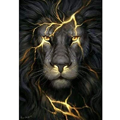 BJBJBJ 1000 Pieces of Wooden Puzzles Adult Jigsaw Puzzle Black Lion Leisure Time Home Decoration Creative Art: Toys & Games