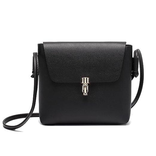 FDelinK Fashion Cover Hasp Crossbody Bag Messenger Bag Girls Purse &Handbags Women Bag (Black)