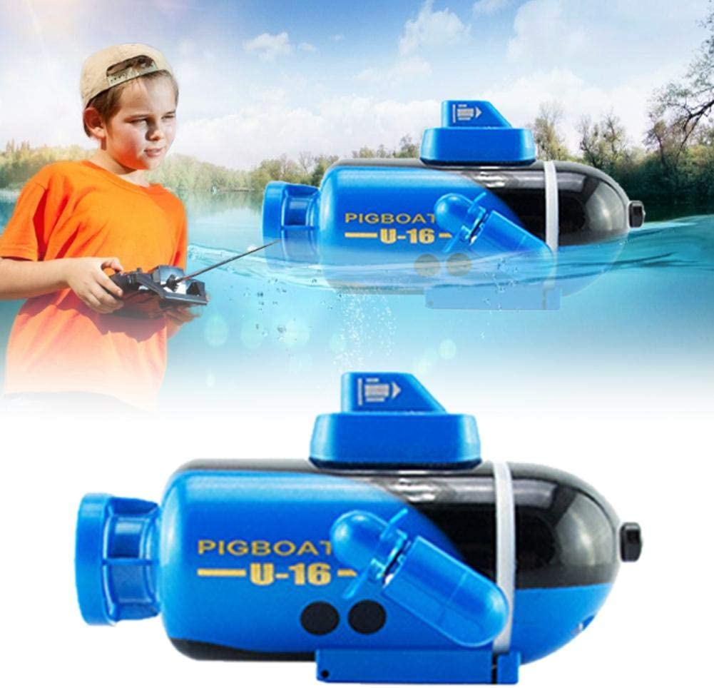 Multifunctional RC Boat Durable Electric Ship Toy Glowing Submarine Model For Fish Tanks Bathtubs