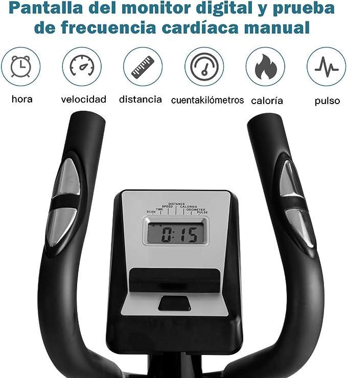 COSTWAY Bicicleta Estática Mmagnética Resistencia Ajustable ...