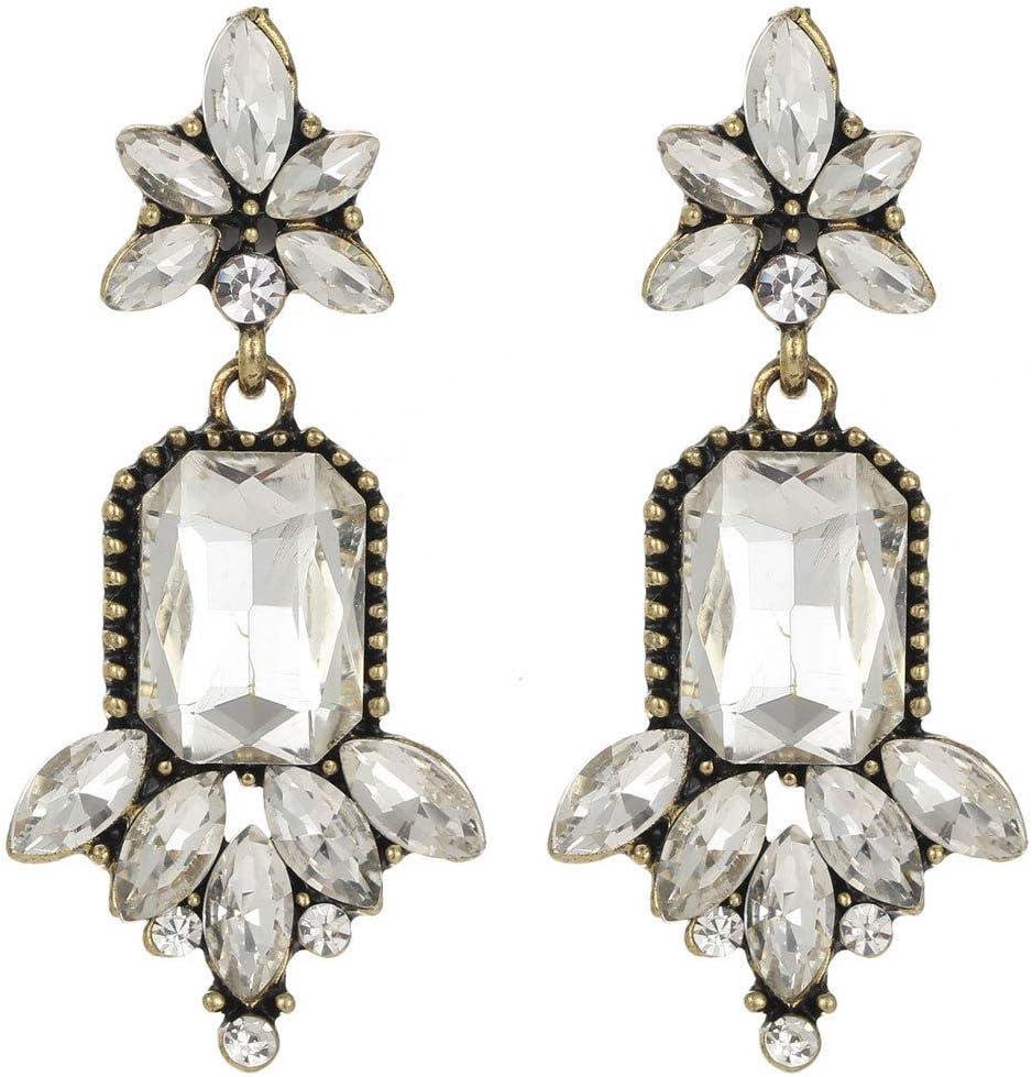 Erin Pendientes De Cristal Multicolor De Moda para Mujer con Colgante De Piedras Preciosas/Pendientes De Cristal Drapeado para Mujer E824