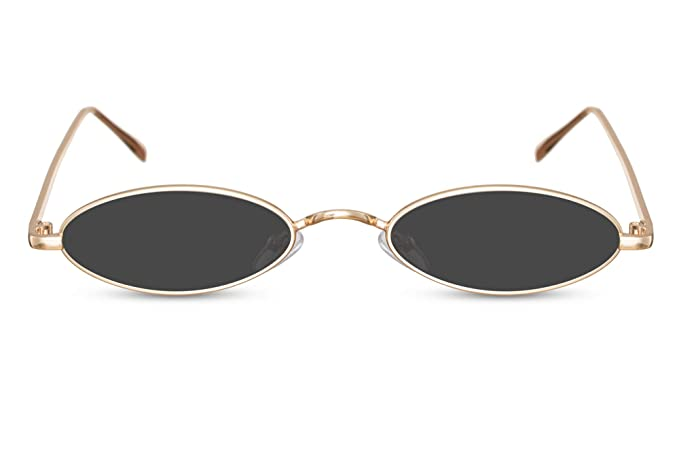 58594f6575 Cheapass Gafas de Sol Pequeñas Ovaladas Montura Dorada Metálica Gafas  Festival para Mujer: Amazon.es: Ropa y accesorios