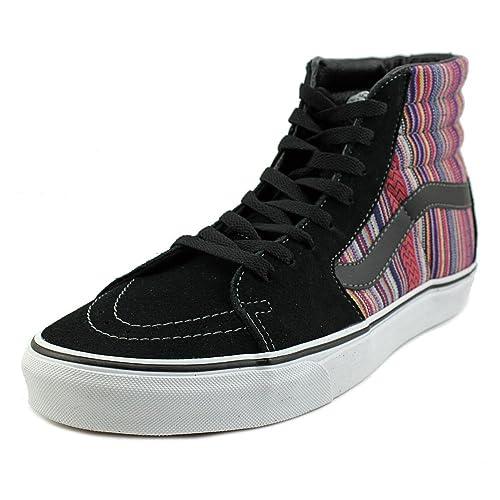 dc4cbd2b09 Vans SK8-HI Guate Weave Skate Shoe Black Multi Men s 3.5   Women s 5.0   Amazon.ca  Shoes   Handbags