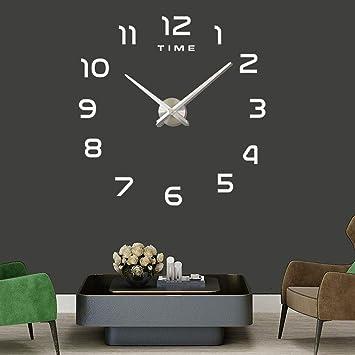 Wanduhr DIY 3D Modern Bürouhr für Wohnzimmer Schlafzimmer Home Decor ...