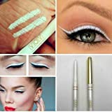 Vov cosmetics Colours Cosmetic Waterproof Kohl and Kajal Auto Eye Pencil (White)
