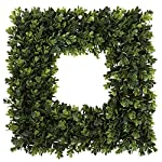 Pure-Garden-Boxwood-Wreath-Artificial-Wreath-for-The-Front-Door-Home-Dcor-UV-Resistant-165-Inches-Square