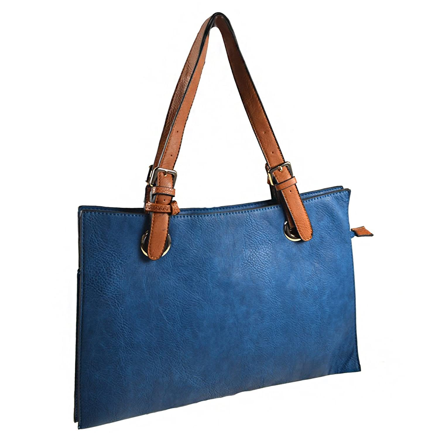 Textured Tote and Pouch Handbag