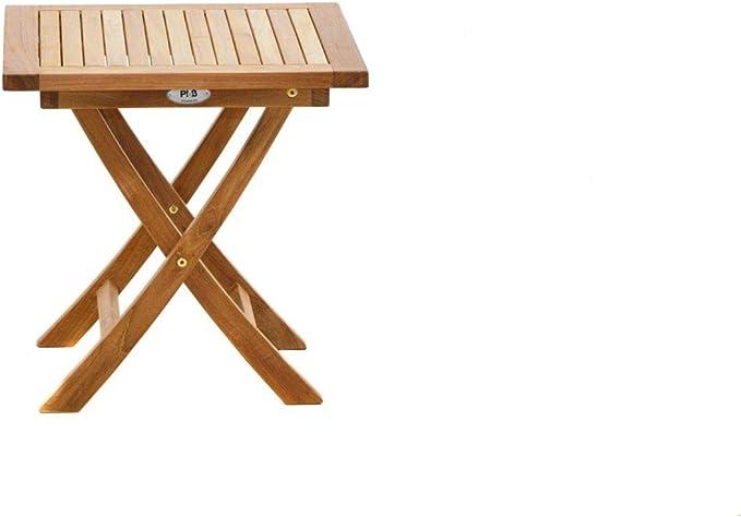 Mesa plegable Midwest 50 x 50 x 50 cm, madera de teca, muebles de jardín, terraza, balcón: Amazon.es: Iluminación
