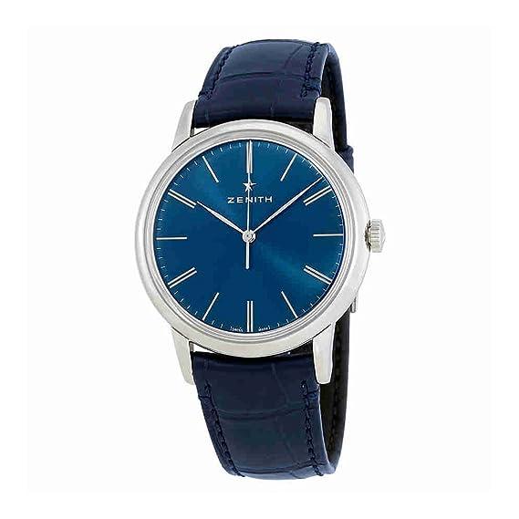 Zenith Elite automático azul Dial Mens Reloj 03.2290.679/51.c700