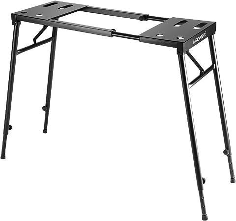 Neewer Soporte Plegable de Piano para Teclado de 61/76 / 88 Teclas con Altura Ajustable de 65cm a 110cm y longitud de 73cm a 113cm, Color Negro