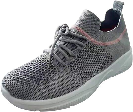 Xinxinyu Zapatos Deportivo Mujer Mocasines | Moda Zapatillas Correr con Suela Blanda | Respirable Malla Calzado Corriendo con Cordones: Amazon.es: Relojes